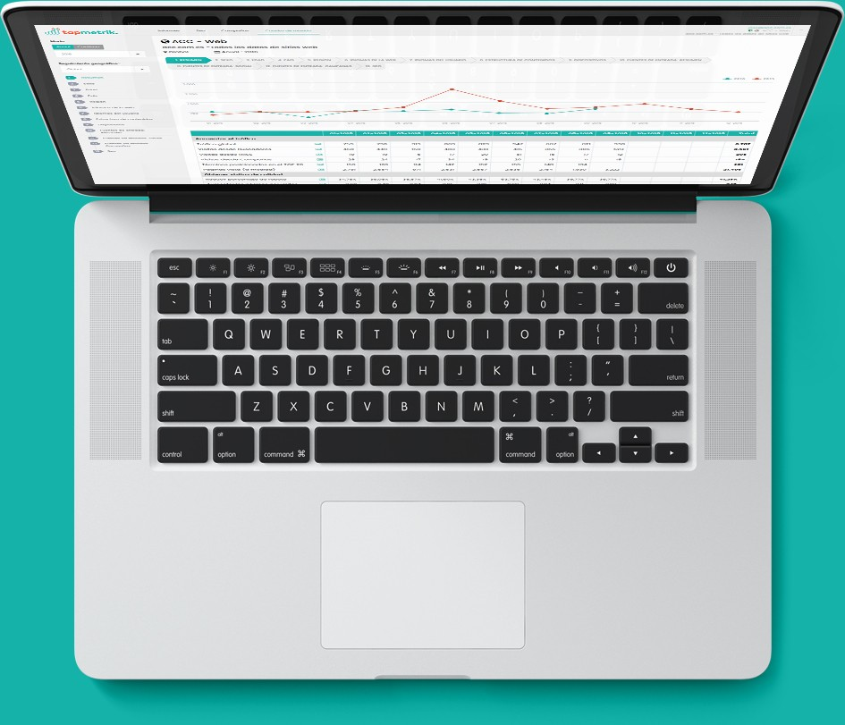 Tapmetrik herramienta de medición de analítica web